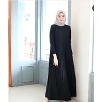 HOT Baju Havana Dress Hitam /Grosir Baju Muslim Gamis Long Maxi Dress