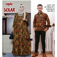 NEW Baju couple Gamis sarimbit | batik sekar kemeja Panjang HOT