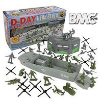BMC WW2 D-Day Plastic Army Men - Utah Beach 40pc Soldier Figures Plays