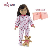 Emily Rose 18 Inch Doll Clothes | Cozy and Cute Footed Ladybug Print P