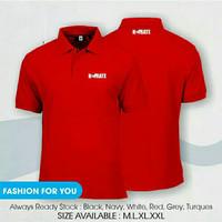 polo shirt karate premium / kaos kerah bela diri karate premium