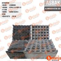 Asbak Aluminium Kotak 6x6 Oleh Oleh Khas Bali perkakas