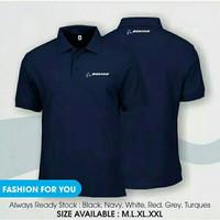 polo shirt boeing premium / kaos kerah pesawat boeing premium