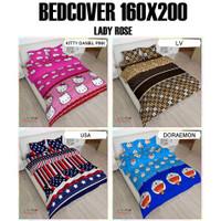 Bedcover + Sprei Rumbai LADY ROSE 160x200 motif Doraemon Kitty Pink