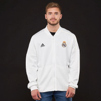 Jaket Bola adidas Real Madrid 2018/19 ZNE Knit Jacket - Core White/Wh