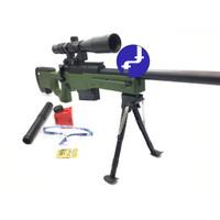 Mainan Anak Tembak Sniper Magnum AWP Water Bullet Gun Kaca Mata PUBG