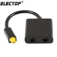 ELECTOP Digital Audio Splitter Kabel Optic Toslink SPDIF 2 Way ZEXJP04