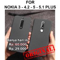 Sand scrub soft case Nokia 3 - 4.2 - 5 - 5.1 Plus casing hp cover tpu