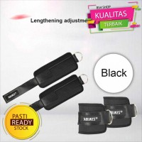 Fitness Gym Adjustable D-Ring Pull Ankle Strap A-7129 Right - Hitam