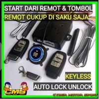 Keyless sistem starter mobil tanpa kunci. start stop engine keyless