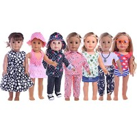 ZWSISU 18-Inch 7 Outfits Clothes for American 18inch Girl Doll Accesso