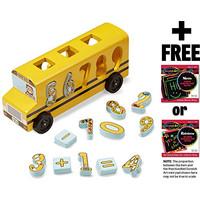 Melissa & Doug Number Game Math Bus & 1 Scratch Art Mini-Pad Bundle (0