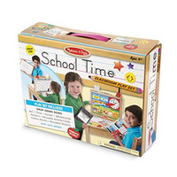 Melissa & Doug School Time Play Set +Free Scratch Art Mini-Pad Bundle