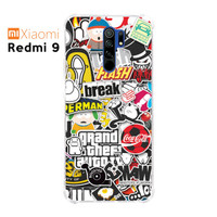 Casing Custom Case Xiaomi Redmi 9 Softcase Anticrack Sticker 2