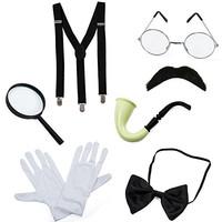 Detective Costume - 7 Pc Costume Accessories, Spy Costume, Spy Kit - S
