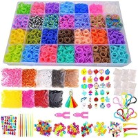 19000+ Rainbow Rubber Bands Refill Kit, 37 Colors Loom Bands, 1000 S-C