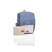 Babymel George Unisex Diaper Backpack in Blue/Oatmeal