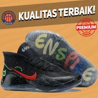 Sepatu Basket Sneakers Nike KD 12 Enspire Black Multicolor Red Blue