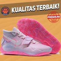Sepatu Basket Sneakers Nike KD 12 Aunt Pearl Pink Pria Wanita Cancer