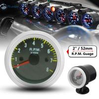 Tachometer Car Auto For 4 6 8 Cylinder 12v Gauge meter 0 - 8000 RPM