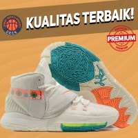 Sepatu Basket Sneakers Nike Kyrie 6 N7 Cream White Pria Wanita