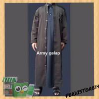 Jubah Gamis Pria BM1473 baju muslim belah cardi laki laki saudi habib
