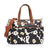 Babymel Bella Shoulder Bag Diaper Bag, Floral Black