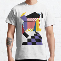 Kaos Color Background Unraveling Box T-Shirt