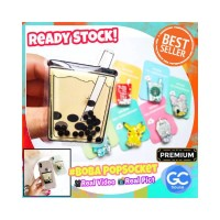 BOBA PopSocket Bubble Milk Tea 3D popsocket Water Quicksand Starbuck K