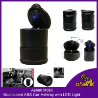Asbak Mobil Noctilucent ABS Car Ashtray with LED Light perkakas