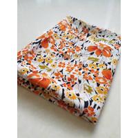 buruan order kain blouse bahan sifon fine motif bunga meteran (F.