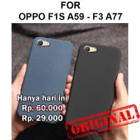 Soft Case Oppo F1s A59 - F3 A77 casing hp cover silikon tpu SAND SCRUB - F1s A59, Black