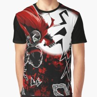 Kaos Spawn All-Over (Red) Graphic T-Shirt