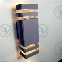 Lampu Dinding Pilar Outdoor Besar Wall Lamp Minimalis Kotak 2 Ara
