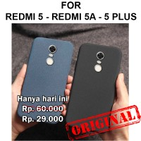 Soft Case Xiaomi Redmi 5 5A - 5 Plus casing cover silikon SAND SCRUB - Redmi 5, Black
