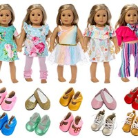 ZITA ELEMENT American 18 Inch Girl Doll Clothes Outfits Lot 7 = 5 Dail