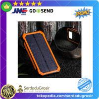 Powerbank Solar Tenaga Matahari Power Bank USB 2 Port 20000mAh Senter