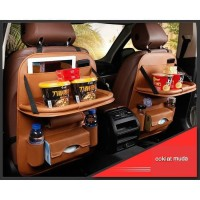 Premium Leather Tas Jok Kursi Meja Lipat Kulit Mobil Innova