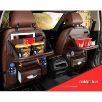 Premium Leather Tas Jok Kursi Meja Lipat Kulit Mobil Ayla