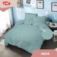 Bed Cover Embossed Aqua Kintakun D'luxe Microtex Biru (6in1)