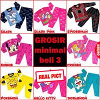 Piyama Anak perempuan laki/baju tidur anak/piyama anak umur 5-7 tahun