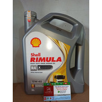 Oli Shell Helix Rimula R4 X SAE 15W40 Galon 5 Liter Original