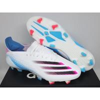 Sepatu Bola Soccer Adidas X Ghosted.1 White Blue Pink Black FG