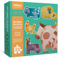 Mideer My First Puzzle Mom and Baby Mainan anak puzzle susun