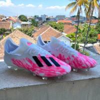 Sepatu Bola Adidas X 19.1 White Shock Pink FG