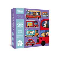 Mideer My First Puzzle Car Mainan anak puzzle susun montessori