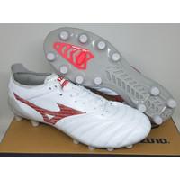 Sepatu Bola Soccer Mizuno Morelia Neo 3 Leather White Fiery Coral FG