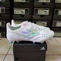 Sepatu Bola Adidas x99 F50 White Silver Fg