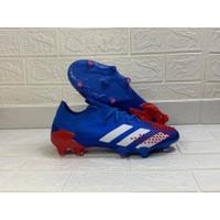 Sepatu Bola Adidas Predator Mutator 20.1 Low BLUE WHITE RED FG