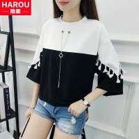 Lengan pendek T-shirt anak perempuan musim panas 2020 versi Korea